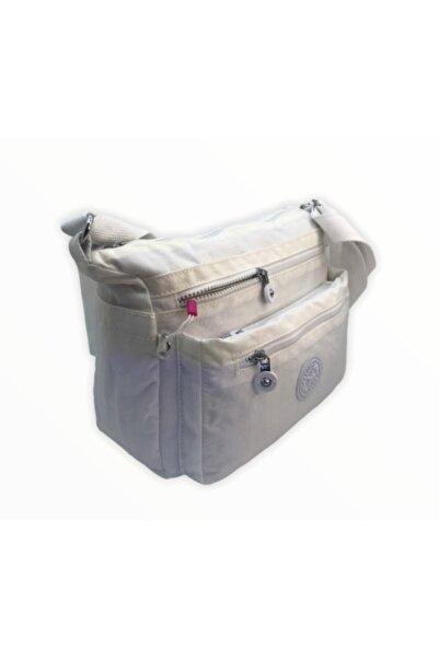 SMART BAGS Kadın Beyaz Krinkıl Kumaş Çapraz Çanta Smb1238