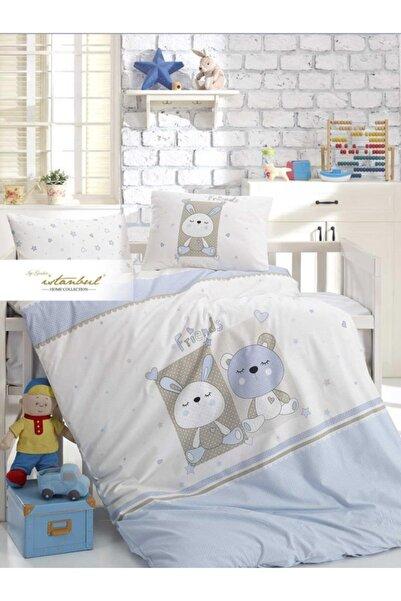 İyi Geceler İstanbul Friends Mavi Bebek Pamuk Nevresim Takımı