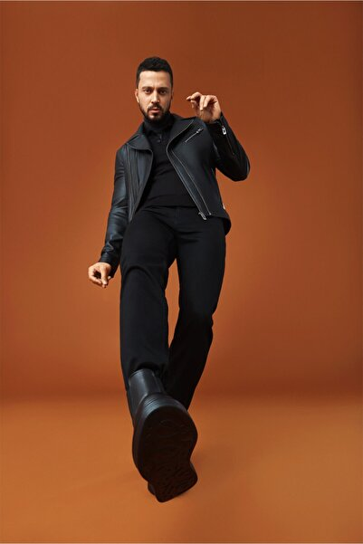 Avva Erkek Siyah Slim Fit Jean Pantolon A02y3579