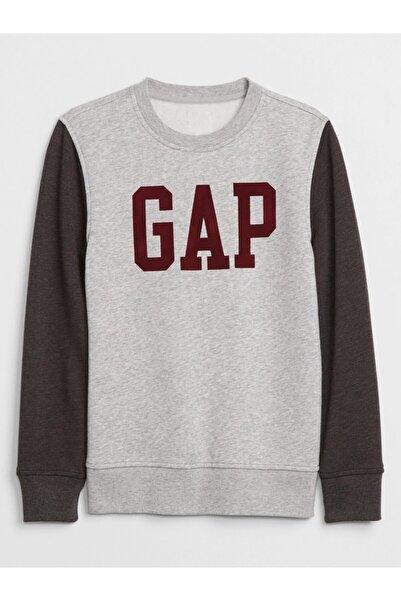 GAP Kids Logo Yuvarlak Yaka Sweatshirt
