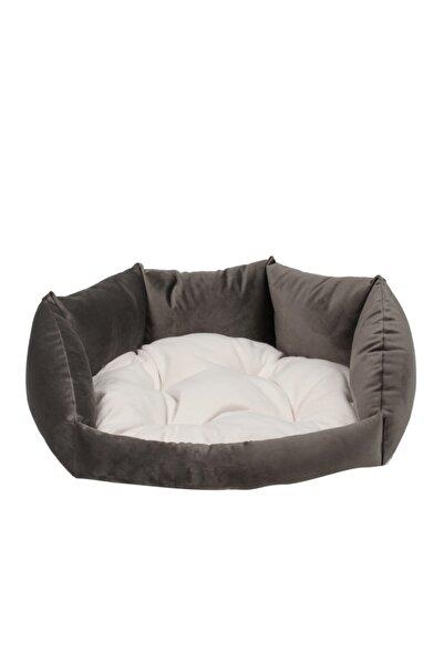 RENKLİ EV TASARIM Milano Model Gri Tay Tüyü Kedi - Köpek Yatakları