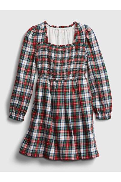 GAP Kız Çocuk Ekose Desenli Uzun Kollu Elbise
