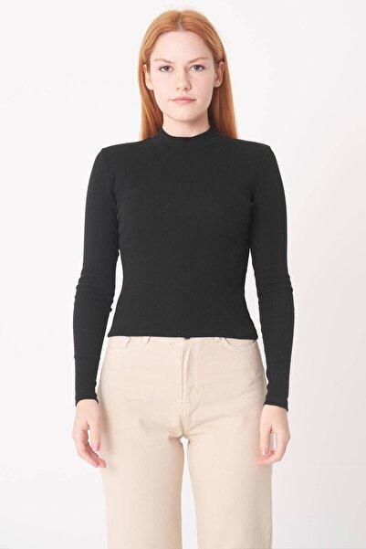 Addax Kadın Siyah Uzun Kollu Bluz B1070 - U8 ADX-0000023027