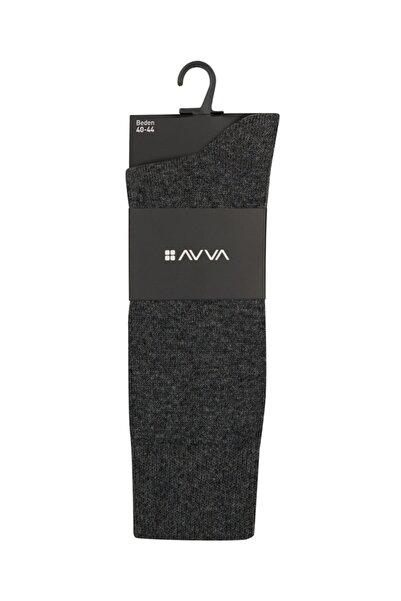 Avva Erkek Gri Soket Çorap A92y8503