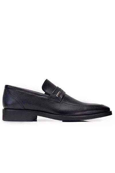 Nevzat Onay Hakiki Deri Siyah Günlük Loafer Erkek Ayakkabı -10455-