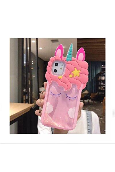 Kılıfsiparis Iphone 11 Unicorn Desenli Sulu Silikon Kılıf