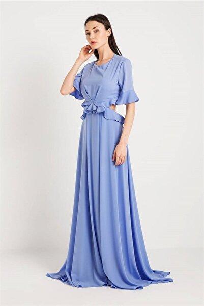 rue. Volanlı Uzun Elbise Lıla