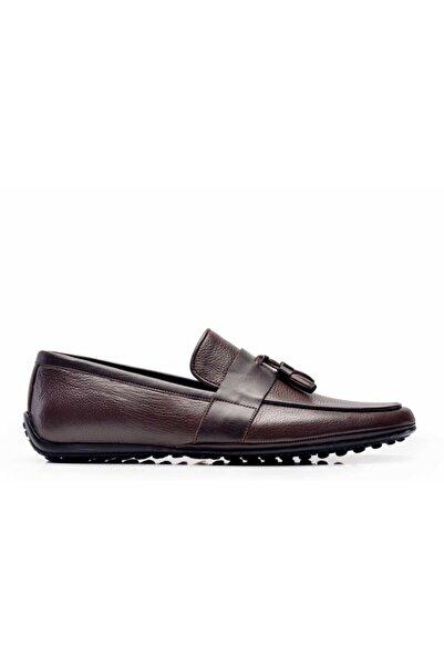 Nevzat Onay Hakiki Deri Kahverengi Günlük Loafer Erkek Ayakkabı -10970-