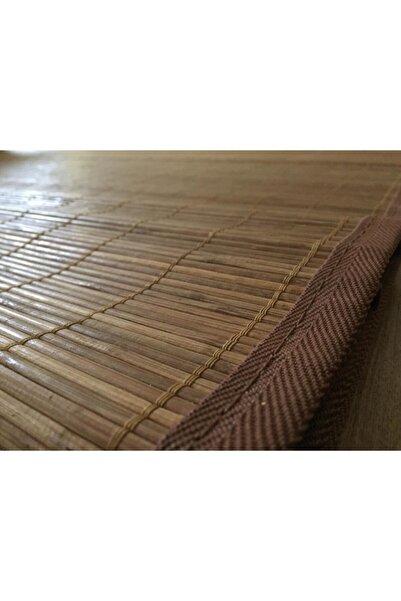 Akarsu Bambu Halı -kilim Kahve Rengi | Çizgi / 170 X 230 / Iç Ve Dış Mekanlara Uygun