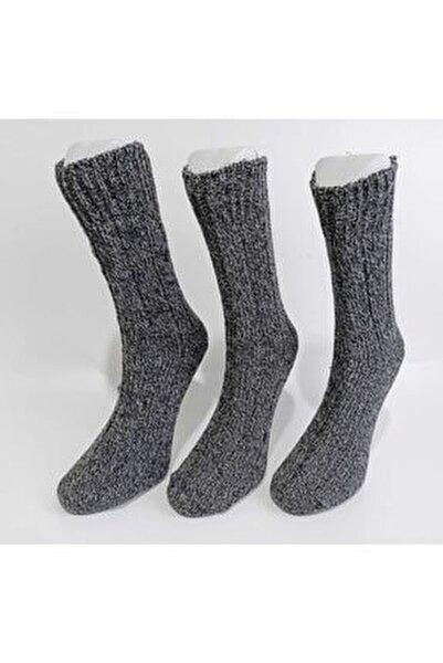 Erkek 3'lü Kışlık Yün Çorap