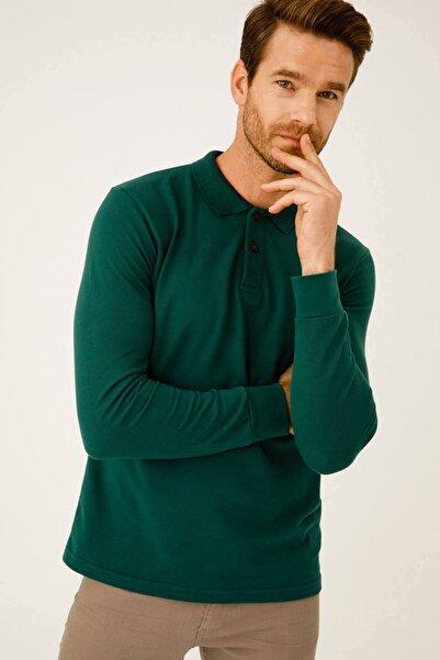 İgs Erkek Nefti Standart Polo Yaka Sweatshirt