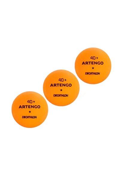 pongori Artengo Ttb100 Masa Tenisi Topu Ping Pong Topu Turuncu (3 Adet)