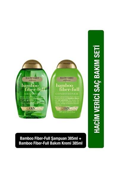 OGX Bamboo Fiber-full Şampuan 385ml+bamboo Fiber-full Bakım Kremi 385ml