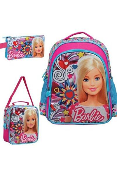 Barbie 3'lü Çanta Seti - Barbıe Ilkokul Çanta Seti
