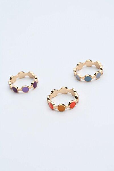 Penti Çok Renkli Colourful Dots Yüzük Set