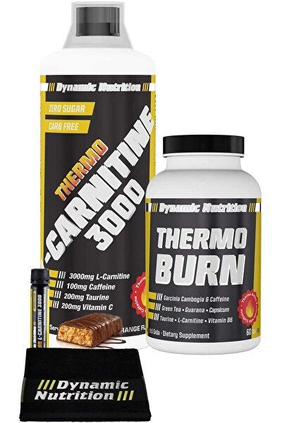 Dynamic Nutrition Dynamic Thermo L-Carnitine 3000 mg 1000 ml + Thermo Burn 60 Tablet + 3 HEDİYE