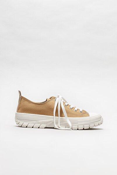 Elle Shoes Kadın Camel Sneaker