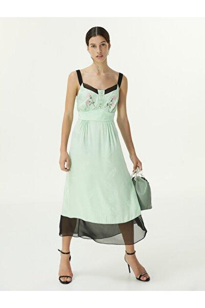 Twist Çiçek Nakışlı Elbise
