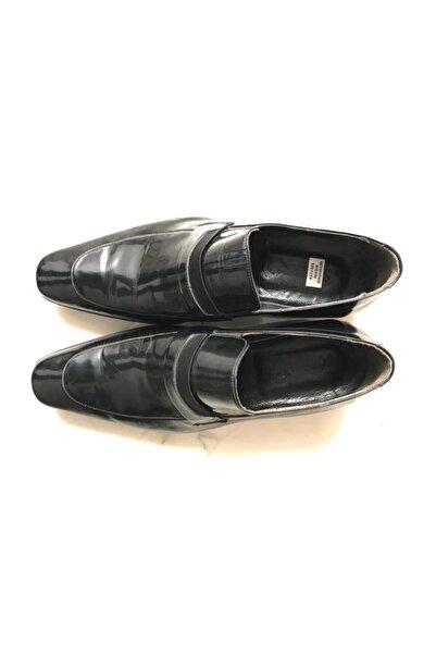 SÜVARİ Erkek Siyah Rugan Deri Casual Ayakkabı