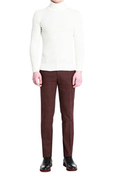 P 1056 Slim Fit Bordo Spor Pantolon