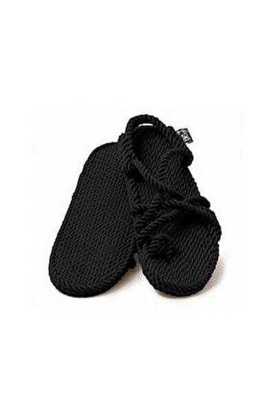 - Toe Joe Siyah Hasır Ip Sandalet