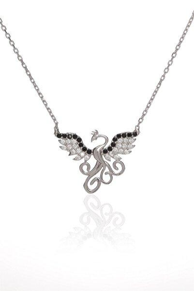BRS Shop 925 Ayar Modern Anka Kuşu Motifi Gümüş Kolye
