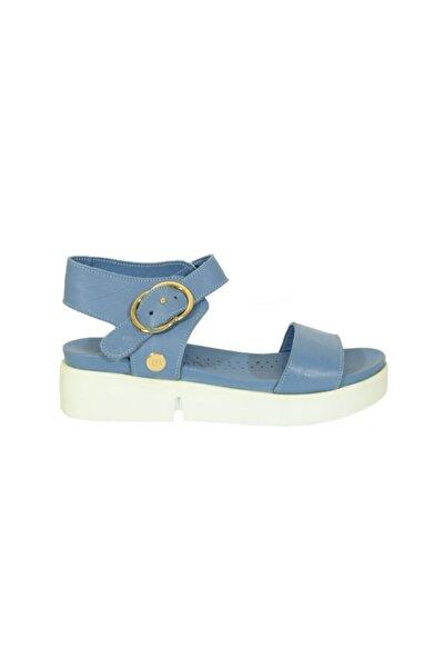 Mammamia 1215 Kadın Deri Sandalet