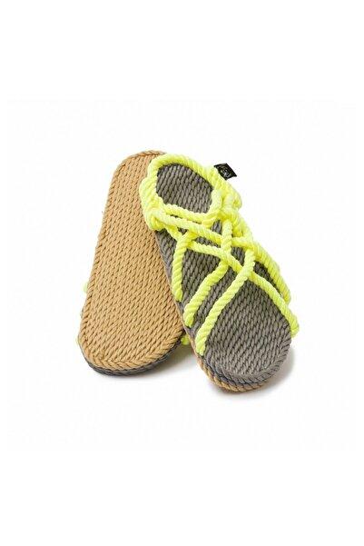 Nomadic State Of Mind - Jc Gri-neon Sarı Hasır Ip Sandalet