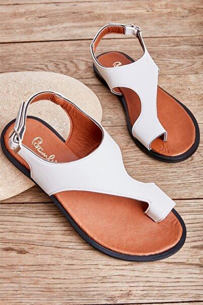 Bambi Beyaz Kadın Sandalet L0835121009
