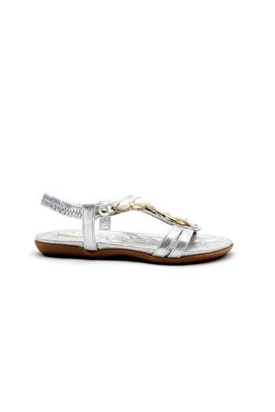 PUNTO 572050 Kadın Sandalet-gümüş Simli