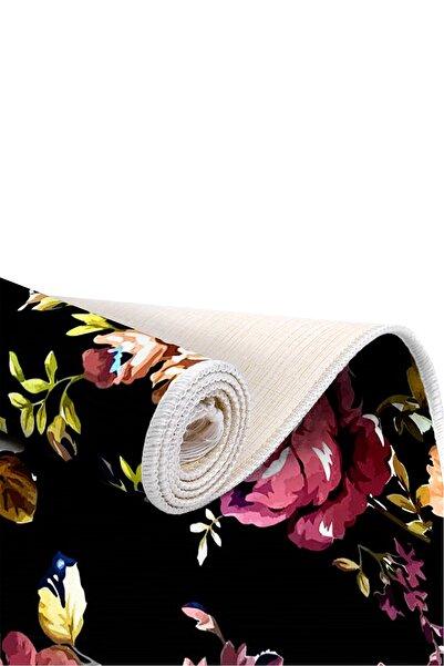 EXCLUSIVE Saray Dijital Halı Saçaklı Elsie Çiçekli Çok Renkli
