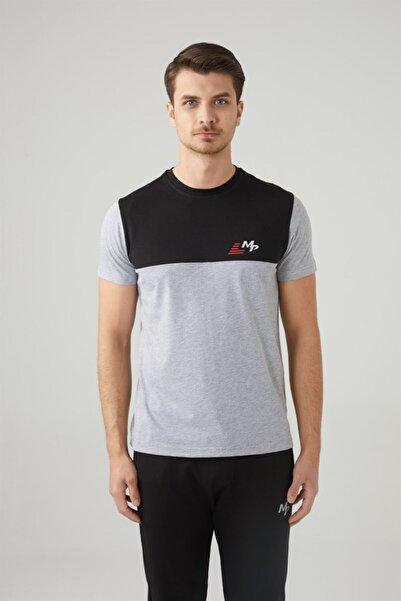 MP Erkek Bisiklet Yaka Siyah T-shirt Tekstil 201-5008mr 100