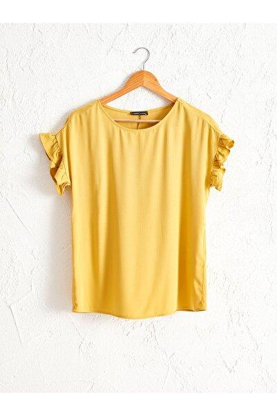 LC Waikiki Kadın Koyu Sarı  Bluz