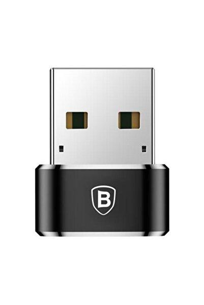 Baseus Erkek Usb - Dişi Type-c Çevirici Dönüştürücü Adaptör Siyah