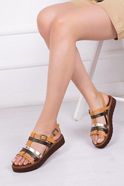 Deripabuc Hakiki Deri Havana Kadın Deri Sandalet Dp-0090