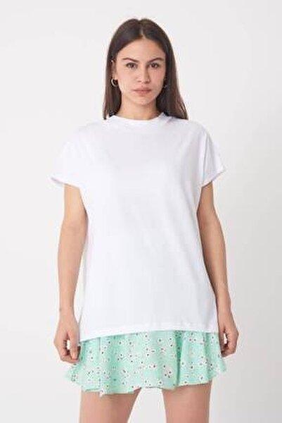 Kadın Beyaz Basic Tişört P0769 - U13 ADX-0000020933