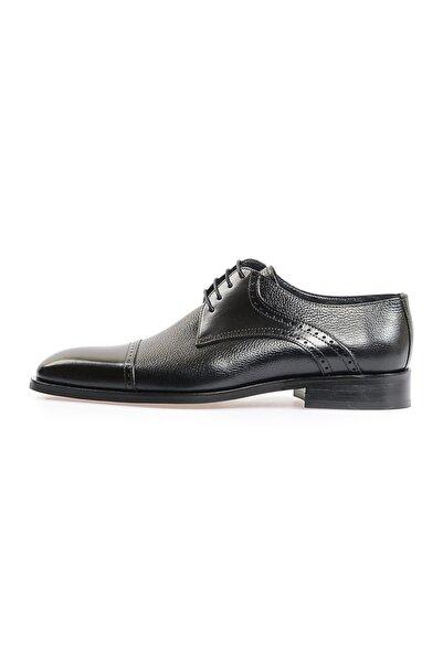 Flower Siyah Maskeretli Klasik Ayakkabı