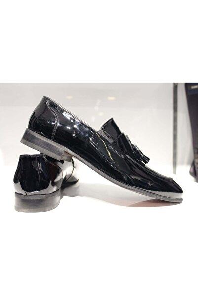 CHERCHİ Erkek Siyah Rugan Ayakkabı