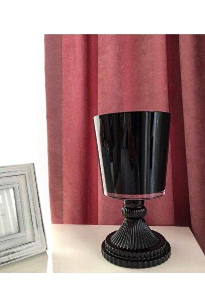 Turkish A2Z Dekoratif Ayaklı Cam Siyah Vazo