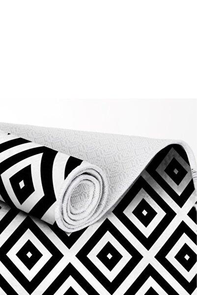 EXCLUSIVE Toprak Dijital Halı Sarah Geometrik Siyah Beyaz