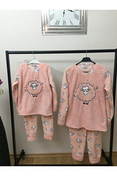 Irmak kids Anne Kız Kombin Polar Pijama Takım