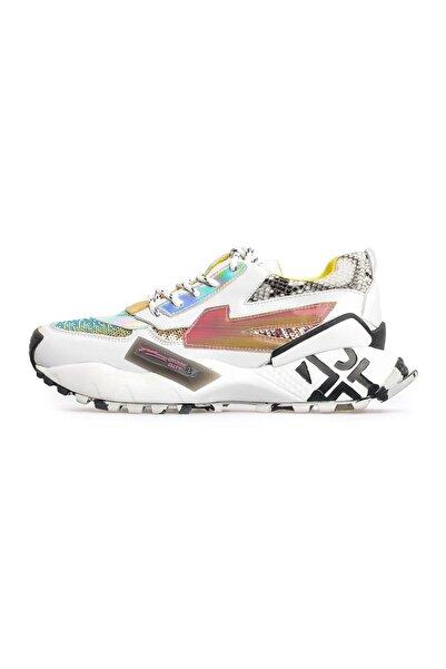 Flower Beyaz Kombin Sneakers