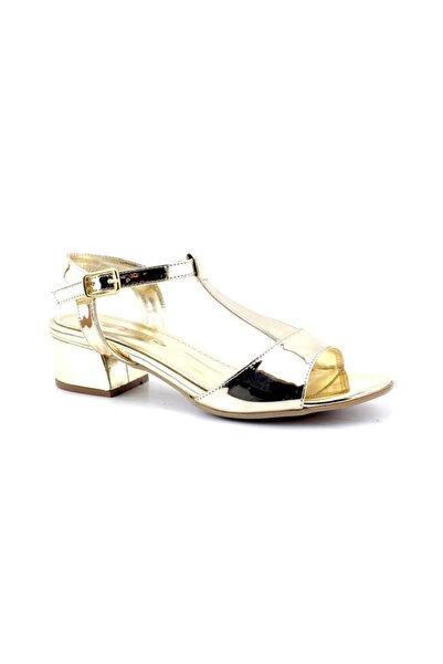 PUNTO 456039 Kadın Topuklu Ayakkabı-altın Ayna