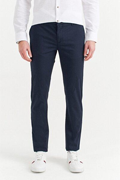 Avva Erkek Lacivert Yandan Cepli Armürlü Slim Fit Pantolon A01s3071
