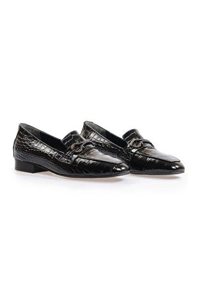Flower Siyah Tokalı Günlük Ayakkabı