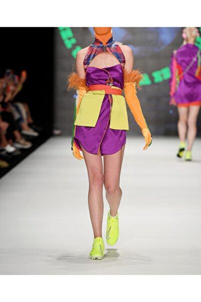 Futuristiklover Saten Mini Elbise