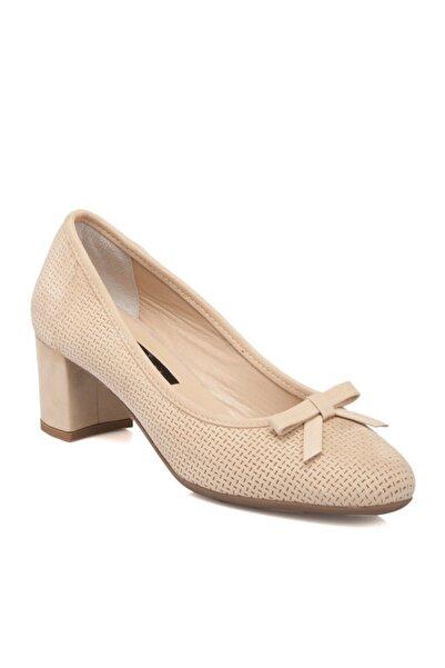 Tergan Bej Deri Kadın Ayakkabı 64366b23