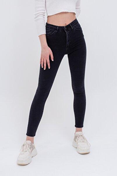 Lafaba Kadın Antrasit Yüksek Bel Skinny Jeans