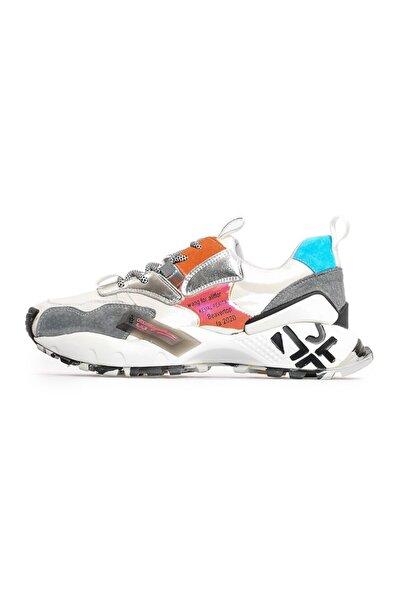 Flower Gümüş Kombin Sneakers