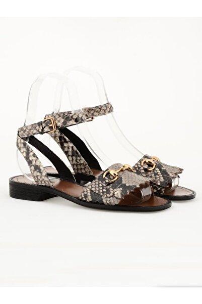 Nursace Hakiki Deri Sandalet Nsc18y-a08273